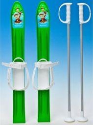 Victoria Sport Narty plastikowe z kijami zielone 60cm