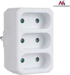 Maclean Gniazdko prądowe x3 plaskie MCE212 -MCE212