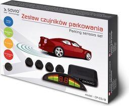 Elmak Czujnik cofania / parkowania SAVIO 4x czarny, wyświetlacz CP-03/B-SAVIO CP-03/B