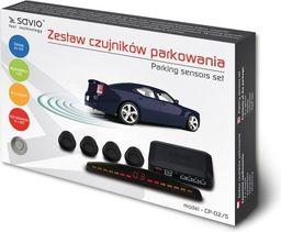 Elmak Czujnik cofania / parkowania SAVIO 4x srebrny, wyświetlacz CP-02/S-SAVIO CP-02/S