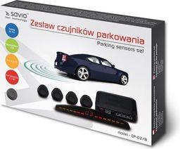 Elmak Czujnik cofania / parkowania SAVIO 4x czarny wyświetlacz CP-02/B-SAVIO CP-02/B