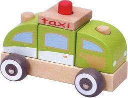 iBOX Drewniany samochodzik taksówka (W05C010)