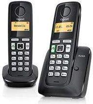 Telefon bezprzewodowy Gigaset DECT A220 DUO