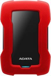 Dysk zewnętrzny ADATA HDD HD330 1 TB Czerwony (AHD330-1TU31-CRD)