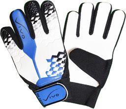 VIVO Rękawice bramkarskie GK-1020 biało-niebieskie r. 5