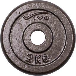 VIVO Obciążenie żeliwne czarne 2kg (4561802)