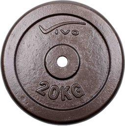 VIVO Obciążenie żeliwne czarne 20 kg (4561807)