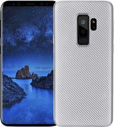 Etui Carbon Fiber Samsung S9 Plus G965 srebrny/silver