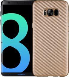 Etui Carbon Fiber Samsung S8 Plus G955 złoty/gold