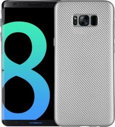 Etui Carbon Fiber Samsung S8 Plus G955 srebrny/silver