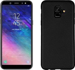 Etui Carbon Fiber Samsung A6 2018 czarny/black
