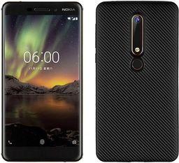 Etui Carbon Fiber Nokia 6 2018 czarny /black
