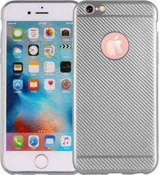 Etui Carbon Fiber iPhone 7 srebrny /silver