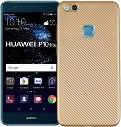 Etui Carbon Fiber Huawei P10 lite złoty /gold