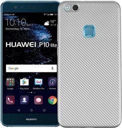 Etui Carbon Fiber Huawei P10 lite srebrny /silver