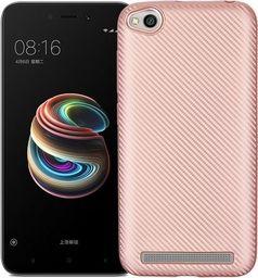 Etui Carbon Fiber Xiaomi Redmi 5A różowo -złoty/rose gold