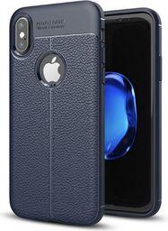 Etui Grain Leather iPhone X niebieski /blue