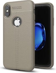 Etui Grain Leather iPhone X szary/grey