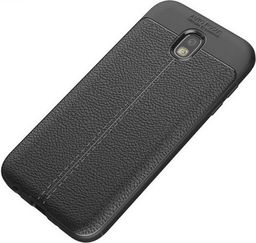 Etui Grain Leather Samsung J7 J730 2017 czarny/black