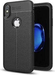 Etui Grain Leather iPhone X czarny/black