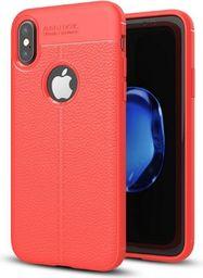 Etui Grain Leather iPhone X czerwony/red