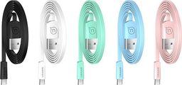 Kabel USB Usams USAMS Kabel płaski U2 USB-C 1,2m różowy/pink SJ200TC05 (US-SJ200)