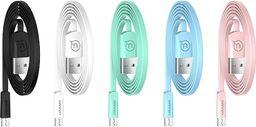 Kabel USB Usams USAMS Kabel płaski U2 microUSB 1,2m różowy/pink SJ201MIC05 (US-SJ201)