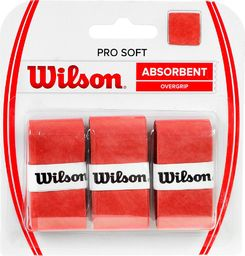 Wilson Owijka Pro Soft Absorbent Overgrip 3szt. czerwona (WRZ4040OR)