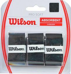 Wilson Owijka Pro Soft Absorbent Overgrip 3szt. czarna (WRZ4040)