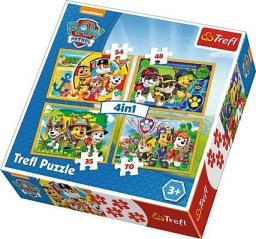 Trefl Puzzle Psi Patrol, Zawsze na czas 35, 48, 54, 70 el.