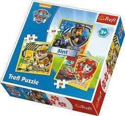 Trefl Puzzle 3w1. Psi Patrol - Marshall, Rubble i Chase