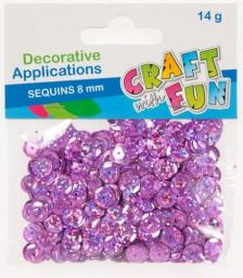 Craft with Fun Cekiny laser guzik różowe 8mm (384024)