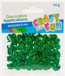 Craft with Fun Cekiny laser guzik zielone 8mm (384097)