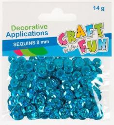 Craft with Fun Cekiny laser guzik niebieskie 8mm  (383935)