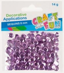Craft with Fun Cekiny metalc guzik różowe 8mm (383957)