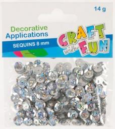 Craft with Fun Cekiny laser guzik srebrne 8mm (383951)