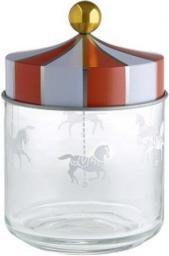 Alessi Słoik hermetyczny ze stalową pokrywką szkło 0,75l