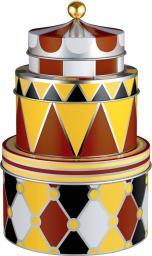 Alessi CIRCUS Zestaw trzech pojemników z motywem dekoracyjnym