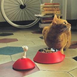 Alessi  miska dla kota z pokrywką
