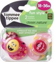 Tommee Tippee Smoczek FUN GIRL różowo-żółty 2 sztuki (43340450)