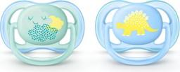 Avent Smoczek ultra air 0-6 miesięcy chłopiec dekorowany (SCF344/20)