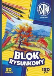 Astra Blok rysunkowy A4 20k biały