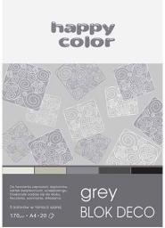 Blok biurowy Happy Color Blok A5 Rysunkowy Deco Happy Szary 20k