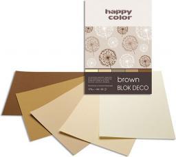Blok biurowy HAPPY COLOR Blok Rysunkowy A5 Deco Happy Brązowy 20k