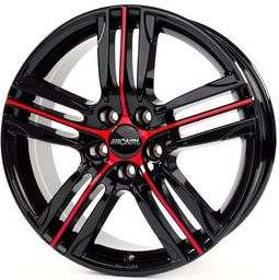 Ronal R57 Jetblack Red Spoke 7.5x18 5x114.3 ET50