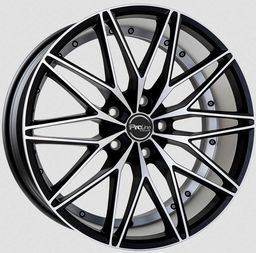 Proline PXE Matt Black Polished 8x18 5x105 ET35