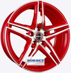Borbet XRT Red Front Polished 9x18 5x112 ET30