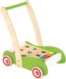 Lelin Drewniany wózek geometryczny i sorter