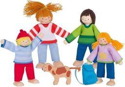 Goki Rodzinka na wakacjach - drewniane lalki do domku (51863)