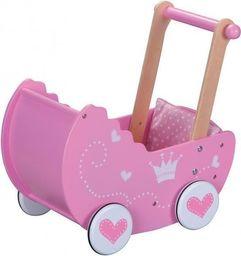 Lelin Drewniany wózek dla lalek (L30017)